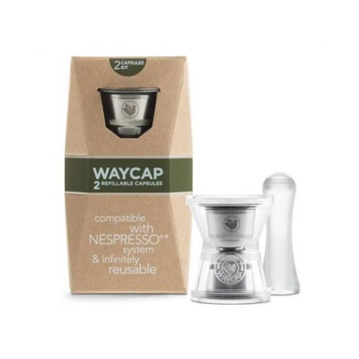 WAYCAP капсули за многократна употреба от неръждаема стомана за Nespresso кафемашина- 2 бр