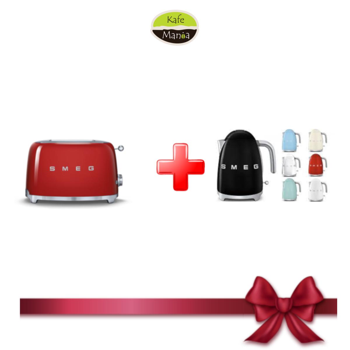 Smeg тостер червен TSF01RDEU+подарък Кана Smeg