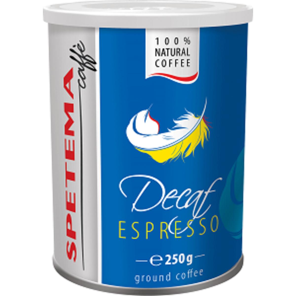 Spetema Decaf 250гр мляно безкофеиново кафе в метална кутия