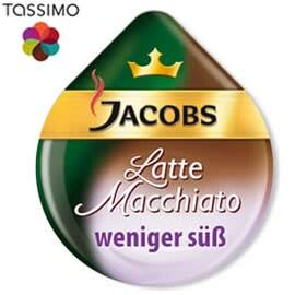 Tassimo Jacobs Latte Macchiato (с по-малко захар)