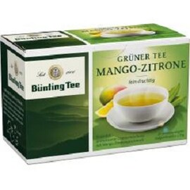 Bünting Tee зелен чай с лимон и манго 20 бр сашета