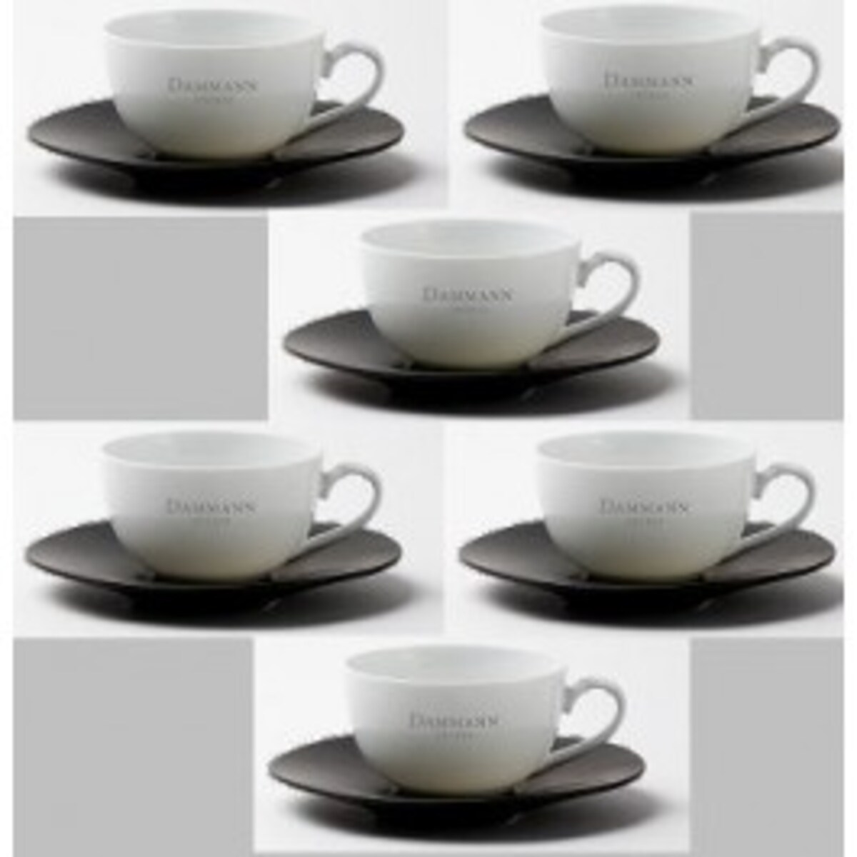 Комплект от 6 порцеланови чаши за чай Dammann
