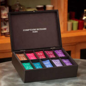 Coffret Thés Comptoirs Richard  - Подаръчен комплект от 100бр сашета зелен и черен чай