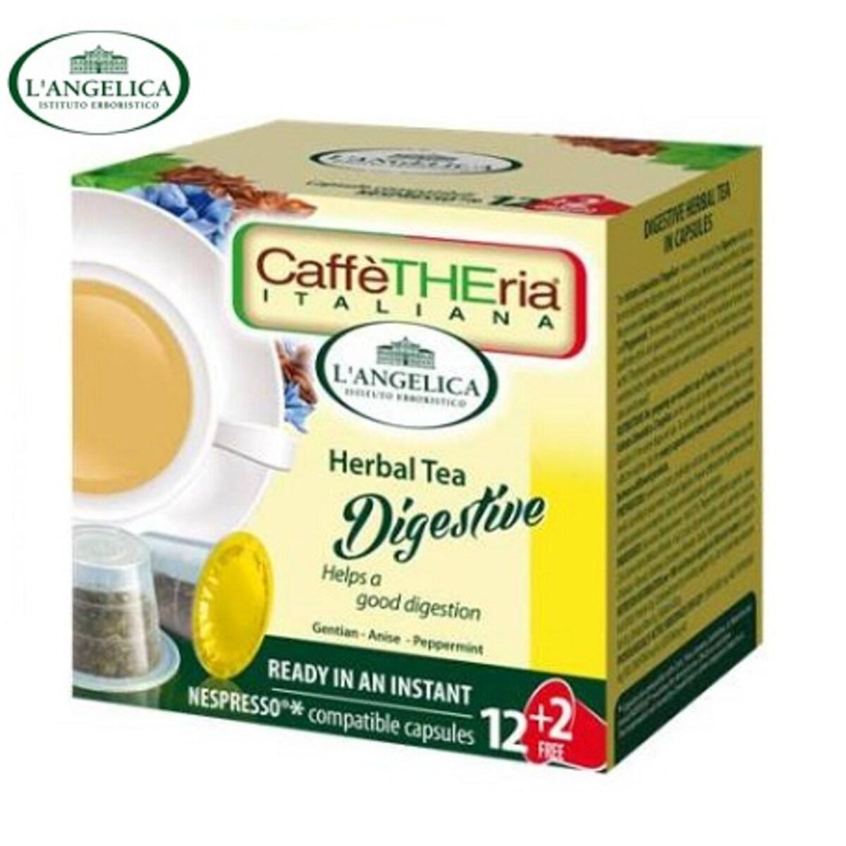 L'angelicа - Чай за храносмилане, капсули за Nespresso кафе машина