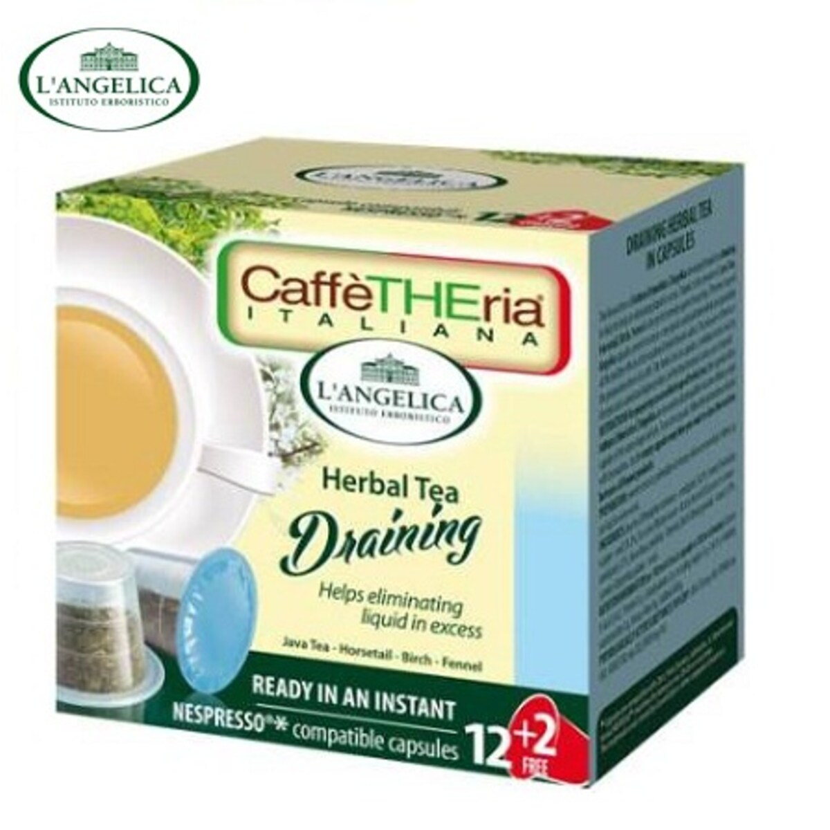 L'angelicа - Диуретичен чай, капсули за Nespresso кафе машина