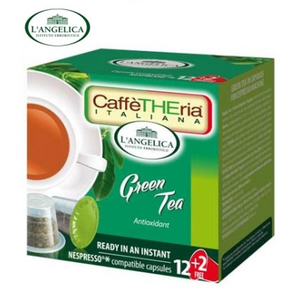 L'angelicа - Зелен чай, капсули за Nespresso кафе машина