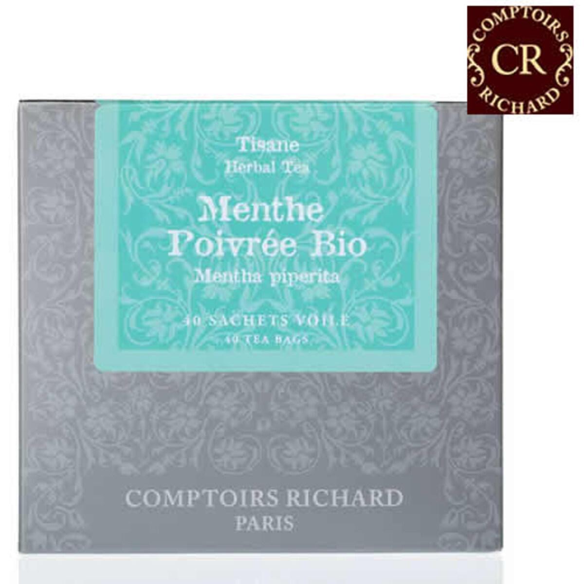 Comptoirs Richard Menthe Poivrée Bio - 40бр сашета билков чай био Мента