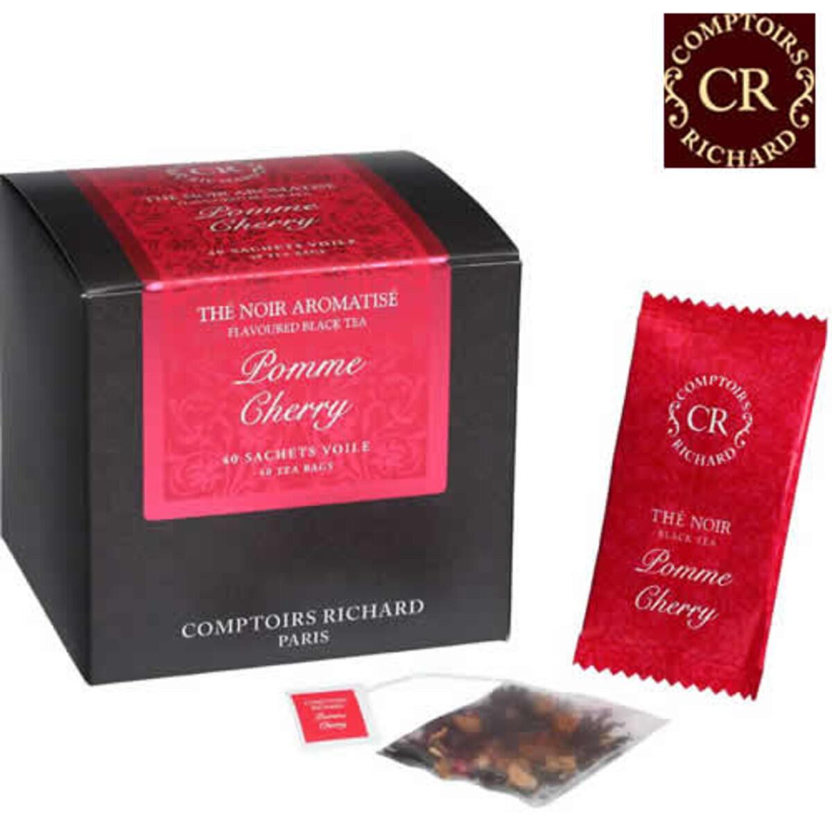 Comptoirs Richard Pomme Cherry - 40бр сашета плодов черен чай ябълка и череша