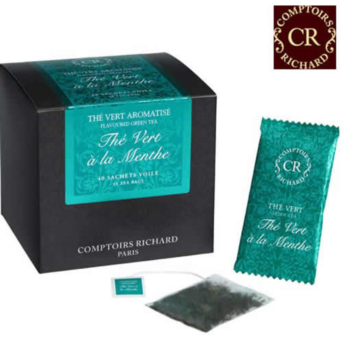 Comptoirs Richard Thé Vert à la Menthe - 40бр сашета  зелен чай мента
