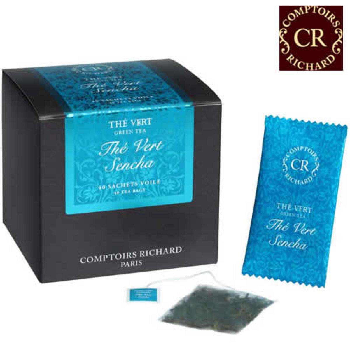 Comptoirs Richard Thé Vert Sencha - 40бр сашета  зелен чай сенча